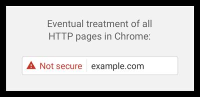 Предупреждение Chrome о незащищенности сайта